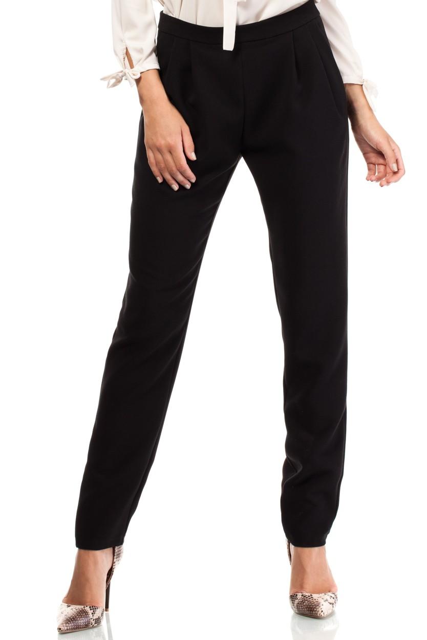 705f2925cdc4 MOE – Dámske elegantné čierne biznis nohavice MOE195