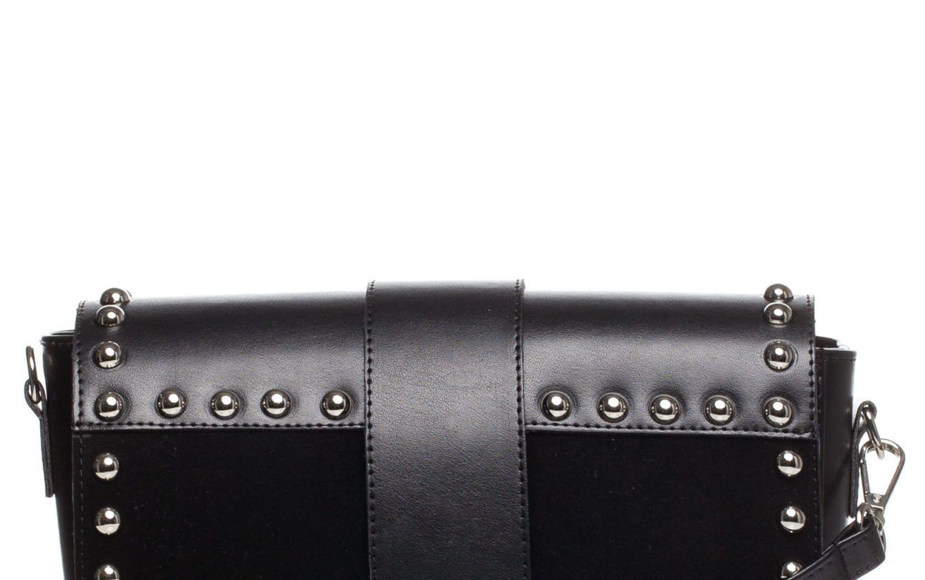 c830ef0cbd63 Style Bags - Čierna crossbody vybíjaná kabelka SB400